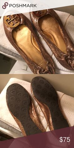 Tory Burch Reva flats Barely worn! Tory Burch Shoes Flats & Loafers