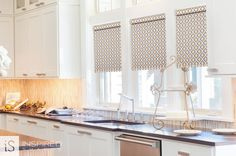 Retro Roller Shades with Matching Valance