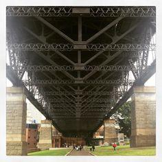 Under the bridge.. #sydneyharbourbridge #sydney #structuralengineering by elkaakle http://ift.tt/1NRMbNv