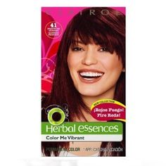 Clairol Herbal Essences Color Me Vibrant Hair Color, Summer Passion - Rich Auburn Brown 41 (1 Pack) >>> Continue to the product at the image link.