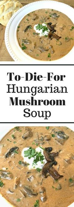 To-Die-For Rustic Hungarian Soup. I was generous with the lemon & sour cream and used 3 different kinds of mushrooms! To-Die-For Rustic Hungarian Soup. I was generous with the lemon & sour cream and used 3 different kinds of mushrooms! Healthy Recipes, Vegetarian Recipes, Cooking Recipes, Simple Soup Recipes, Recipes For Soups And Stews, Tofu Recipes, Hungarian Mushroom Soup, Hungarian Paprika, Mushroom Soup Recipes