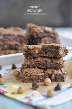 Caramel Brownies (your homebased mom)