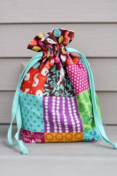 Lined Drawstring Bag PDF Pattern