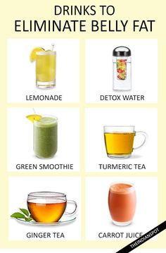 SIMPLE DETOX DRINKS THAT ELIMINATE BELLY FAT