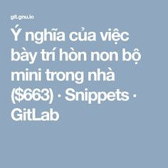 Welcome to git. Minis