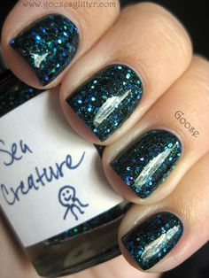 Goose's Glitter: The Hungry Asian - Sea Creature and Sneeze Breeze Cute Nail Polish, Cute Nail Art, Really Cute Nails, Pretty Nails, Gorgeous Nails, How To Do Nails, Fun Nails, Nail Envy, Cute Nail Designs