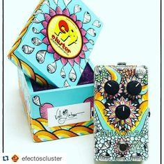 Repost @efectoscluster:  Ithaca-26: Santana edition hand painted #losfabulososcadillacs #effectspedals #stompbox #guitar #argentina #carlossantana