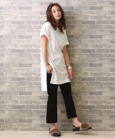チュニックTシャツワンピース(Tシャツ/カットソー)|MYSELF ABAHOUSE(マイセルフアバハウス)のファッション通販 - ZOZOTOWN