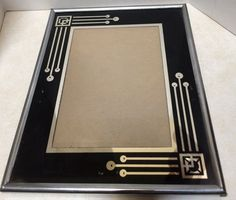 Black And Silver  Art Deco Picture Frame #ArtDeco