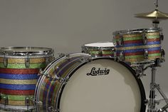 You won't be going door to door with this. Ludwig L8264FXPC Patrick Carney Ltd Ed 'Salesman' Drum Shell Set - Google Search