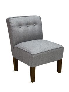 Three Button Chair in Herringbone Onyx by Platinum Collection by SF Designs at Gilt