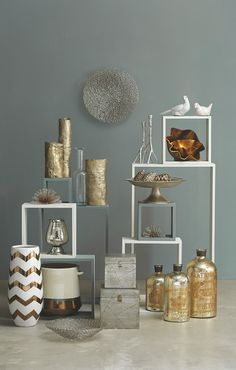 Mix and match metallics to illuminate any room. Save 35% sitewide! Use code PINART35 from 12/16/14 to 12/31/14.