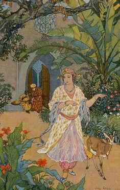 Harmony (Justice) - Tarot of the 1001 Nights Justice Tarot, Fairytale Art, Major Arcana, Arabian Nights, Oracle Cards, Tarot Decks, Islamic Art, First Night, Art Inspo