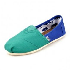 New Arrival Toms women shoes Green Blue