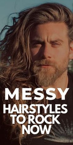 Messy Hairstyles To Rock Now Cool Hairstyles For Men, Messy Hairstyles, Messy Hair Look, Beard Styles For Men, Bad Hair Day, Medium Long, Face Shapes, Hair Type, Hair Looks