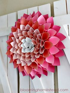 How To Make Spring Wreath - 101 Easy DIY Spring Craft Ideas and Projects - DIY & Crafts