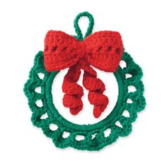Crochet Wreath Ornament - Tutorial ❥ 4U hilariafina  http://www.pinterest.com/hilariafina/