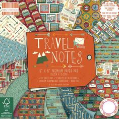 First Edition Paper Pack Pad - Travel Notes 6 x 6