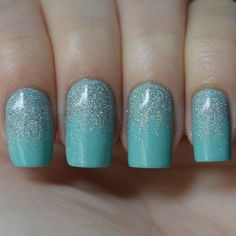 China Glaze Glistening Snow layered over For Audrey