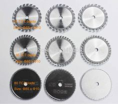 Mini saw blade working for wood and plastic 9 pcs for Multi-function power tools