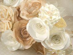 Bridesmaids Bouquets Bridal Vintage Bouquets in by SolBijou, $360.00