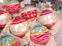 USA Christmas Ornaments Shiny Brite Eckhard