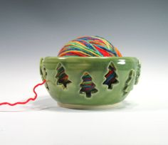Yarn Bowl - Knitting Bowl - Crochet Bowl - Knitting Supplies - Stoneware Pottery - Handmade - Home Decor