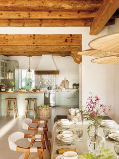 Rustic Italian Home Kitchen Interior, Home Decor Kitchen, Home N Decor, Italian Home, Kitchen Decor, House Interior, Sweet Home, Home Kitchens, Kitchen Design
