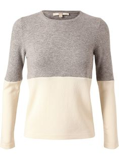 $562.78 RHIE Colour Blocked Wool-Cashmere Top