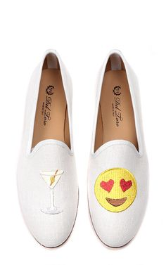 Drunk in Love loafers ($340). http://www.mtv.com/news/2008278/emoji-shoes-quiz/