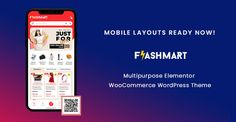 Mobile Layout Ready Now in FlashMart – Multipurpose Elementor WooCommerce WordPress Theme Shopping Websites, Online Shopping Stores, Homepage Design, Web Design, All Themes, Wedding Store, Mobile Application, Wordpress Theme, Layout