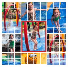 What a fun summer scrapbook layout! There are so many bright colors from the photos. I take a lot of pictures of the kids at the water park and Mosaic Moments lets you add a lot of them on a scrapbook layout.