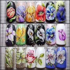Spring Nail Art, Spring Nails, Toe Nail Art, Toe Nails, One Stroke Nails, Flower Nail Art, Beautiful Nail Art, Nails Inspiration, Flower Decorations
