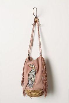 pink fringed bag by Errcomp