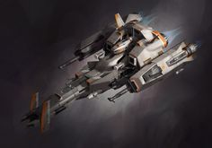 ArtStation - Fighter Spaceship - LEGO Brick Blockout, Adam Taylor