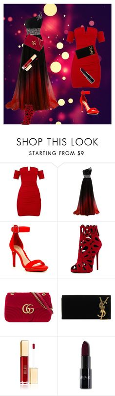 """""""This or this?"""" by kayla-ann-ryan on Polyvore featuring Gianni Bini, Giuseppe Zanotti, Gucci and Yves Saint Laurent"""