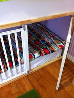 Update!! Charlie's outgrown the crib-bed (although it worked wonders for a year and a half), this is how we transitioned away from the crib...