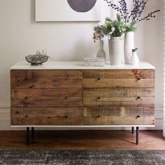 Reclaimed Wood + Lacquer 6-Drawer Chest