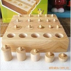 Style; In Disciplined New Arrival Kids Montessori Toys Colorful Socket Cylinder Set Beech Wood Multicolor Blocks Early Educational Math Teaching Toys Fashionable