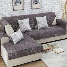 Charmant 100%cotton Sofa Cover Set Sectional Slip Cover Sofas Modern Magical Sofa  Cover Corner Towel Fabric Double Towel Sofa 90*90 Towel
