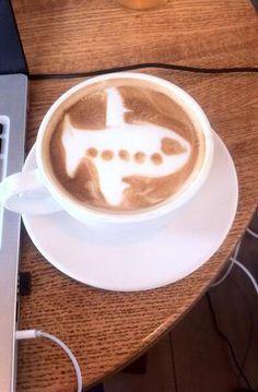 Airplane Latte Art