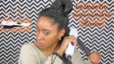 I recently purchased the Ion steam pro straightening iron to see. Curly Hair Braids, Natural Hair Braids, 4c Natural Hair, Kinky Curly Hair, Natural Hair Journey, Natural Hair Styles, Hair Straightener Reviews, Type 4 Hair, Hair Straightening Iron