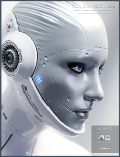 LECS - morph adjustment to face, new skins for and androidy feel along with additional emission maps. Arte Robot, I Robot, Robot Girl, Cyborg Girl, Female Cyborg, Futuristic Art, Futuristic Technology, Futuristic Makeup, Android Technology