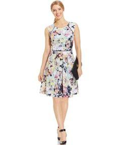 Tahari ASL Floral-Print Pleated Scuba Dress($76.80