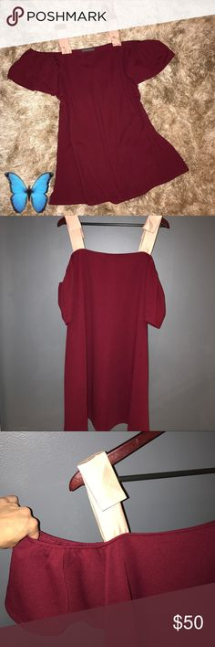 "Bowed Open Shoulder Sunday in Brooklyn Tunic Dress New with tags. Polyester, spandex. Open-shoulder tunic silhouette. Tie shoulder detail. Pullover styling. Hand wash. Falls 37"" from shoulder. Anthropologie Dresses"
