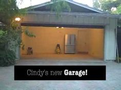 The California ranch house garage is transformed inside and out with a new Clopay faux wood carriage style garage door, LiftMaster opener, new epoxy floor, and more. Via Cindy Dole at Home Wizards. www.clopay.com