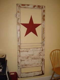Upcycle an old screened door into wall art. | Repurposed Old Doors ...