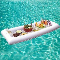 Si buscas bandejas hinchables para piscina, con esta bandeja no querrás salir del agua, ya que podrás comer y beber…