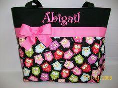 Adorable OWLs ...  DIAPER Bag ..  ...Personalized Free. $52.99, via Etsy.