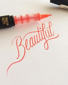 The art of hand-lettering is making a comeback. We're loving these techniques. The art of hand-lettering is making a comeback. We're loving these techniques. Improve Your Handwriting, Nice Handwriting, Calligraphy Handwriting, Calligraphy Letters, Typography Letters, Caligraphy, Penmanship, Tattoo Writing Fonts, Calligraphy Tattoo Fonts